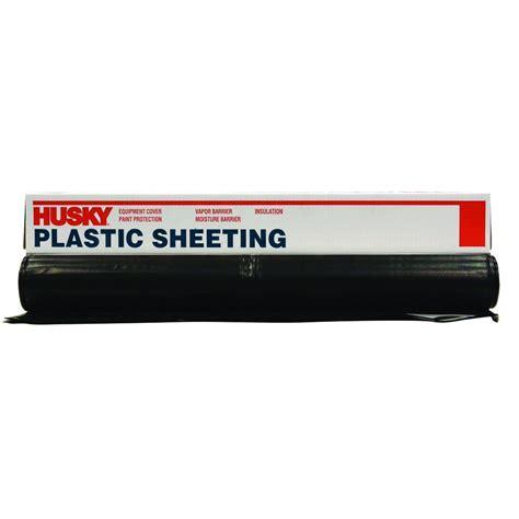 Husky 50 Ft X 12 Ft Black 6 Mil Plastic Sheetingcf0612