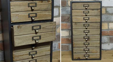 bureau 50 cm profondeur petit chiffonnier de style industriel en bois et métal