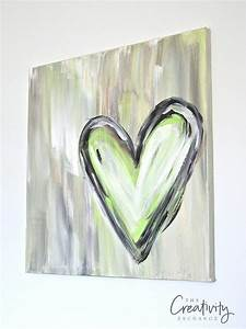 Diy, Abstract, Heart, Painting, And, A, Fun, Paint, Party