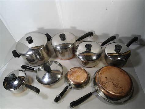 revere ware copper bottom pots  pans revere ware cookware