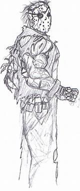 Jason Coloring Voorhees Friday 13th Bender18 Template Deviantart Sketch sketch template