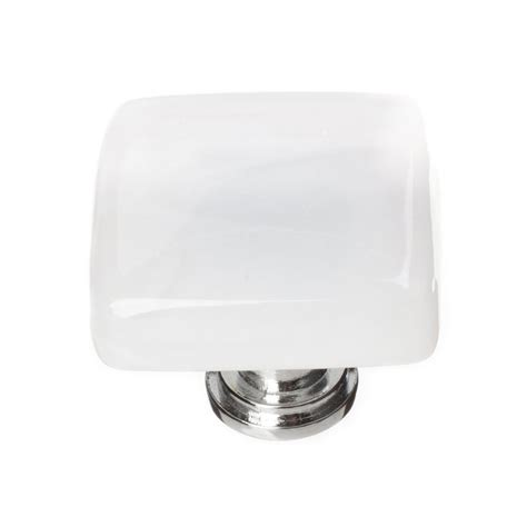 square chrome cabinet knobs shop sietto cirrus white polished chrome square cabinet