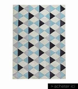 salon scandinave 38 idees inspirations diaporama With tapis scandinave bleu et gris