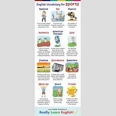 English Vocabulary For Sports (illustrated