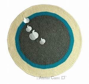 Tapis Blanc Rond : tapis rond gris blanc ~ Dallasstarsshop.com Idées de Décoration