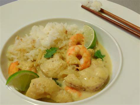 cuisine vietnamienne curry de lotte au lait de coco et citron vert teatime gourmand