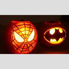 Halloween Pumpkin Superheros  Spiderman & Batman Youtube