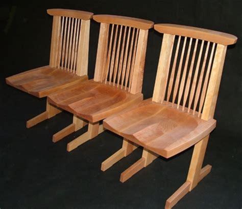 yellow birch nakashima inspired chairs bob gasperetti