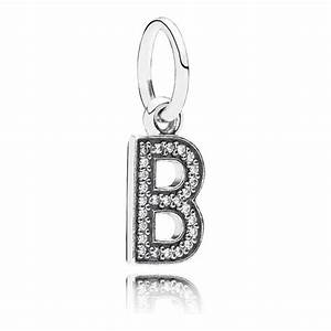 pandora letter b pendant charm 791314cz pandora from With pandora letter charm necklace