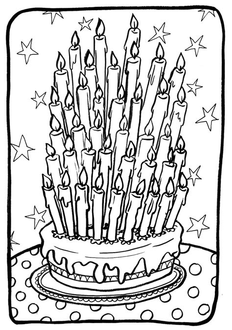 coloriage 195 dessiner gateau d anniversaire 36 ans