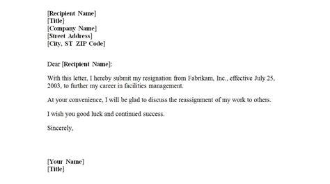 letter  resignation template letter  resignation