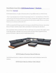 World Market Center Debuts SUNS Outdoor Furniture by ...