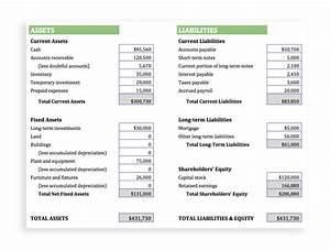 Company Balance Sheet Template sushi chef sample resume ...