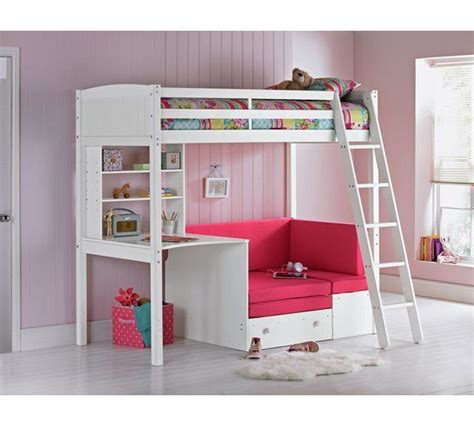 Classic High Sleeper With Sofa Bed by Buy Home Classic High Sleeper Bed Frame Fuchsia Sofa Bed