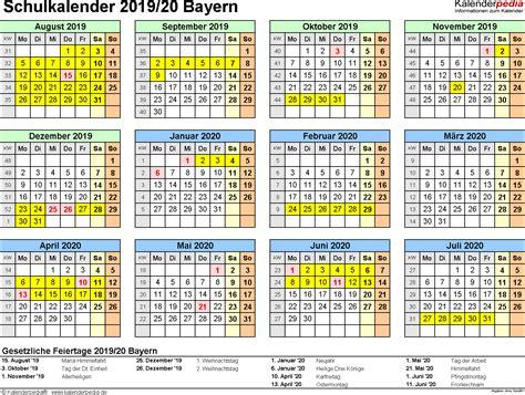 bayern sommerferien 2019 schulkalender 2019 2020 bayern f 252 r excel
