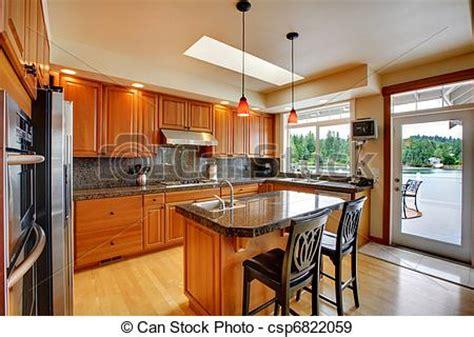 photo beau cuisine 238 le granit bois dur plancher image images photo libre de droits