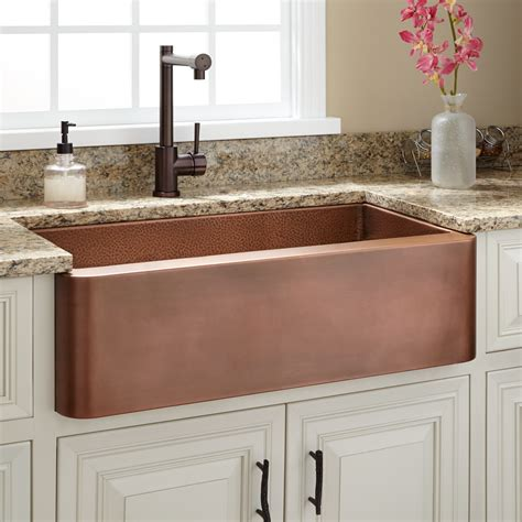 copper farmhouse kitchen sinks 30 quot raina copper farmhouse sink kitchen