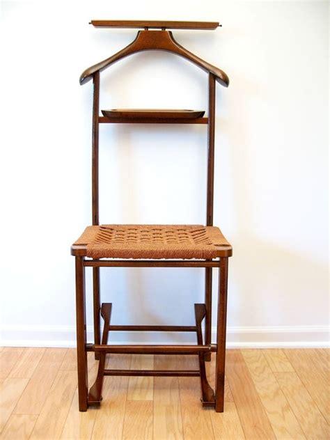 mid century danish modern valet butler chair  rope