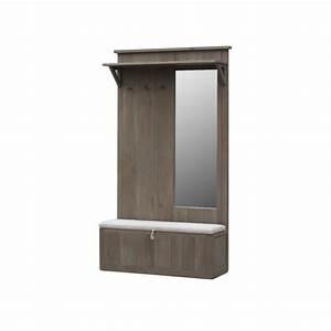 Porte Manteau Pour Porte : meuble porte manteau coffre et miroir ch ne massif aline ~ Dailycaller-alerts.com Idées de Décoration