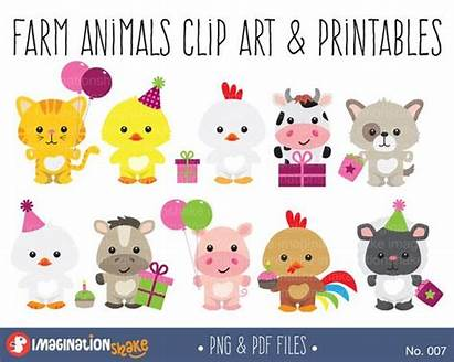 Farm Animal Clipart Party Animals Birthday Clip