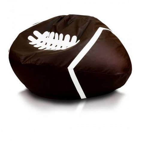 fauteuil pouf en forme de ballon de rugby