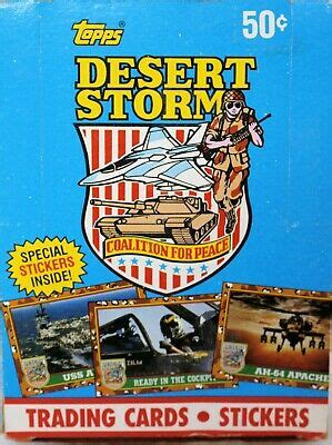And as some one else mentioned, becket price guide really did change everything. 1991 Topps Desert Storm Trading Cards 36 sealed packages w/special stickers 41116004599 | eBay