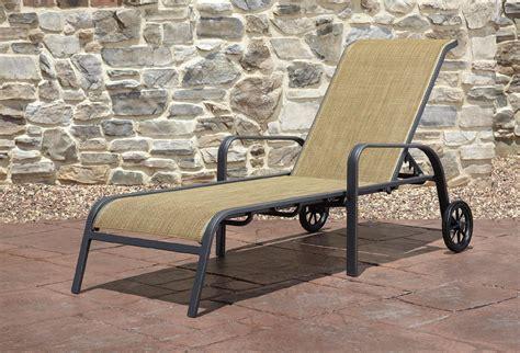 agio international panorama sling chaise lounge with
