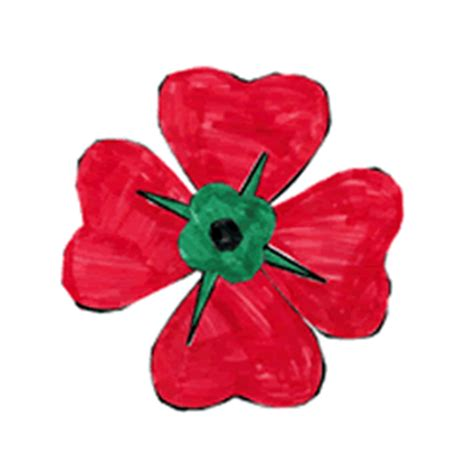 remembrance day poppy paper craft color template