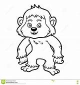 Yeti Coloring Children Illustration Vector Preview sketch template