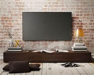Fixer Une Télé Au Mur : 15 pingles tv au mur incontournables meuble tv noir ~ Premium-room.com Idées de Décoration