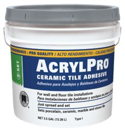 acrylpro 174 professional tile adhesive custom building products