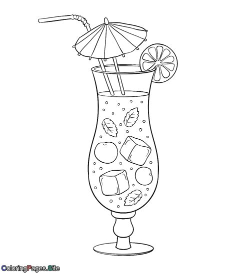 summer drink  coloring page