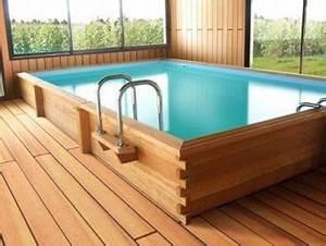 Piscine En Kit Enterrée : kit piscine bois exotique oslo tekabois ~ Melissatoandfro.com Idées de Décoration
