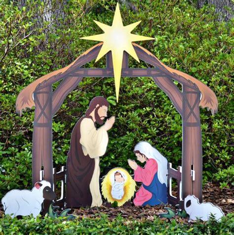 lighted outdoor nativity set celebrate christmas with outdoor lighted nativity sets and