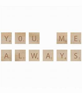 kaisercraft wooden letter words you me jo ann With you me wooden letters