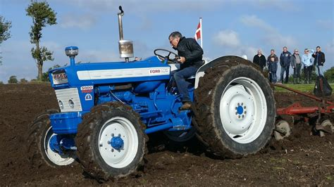 ford 5000 four county 4wd ploughing w kverneland plough working dk agriculture youtube