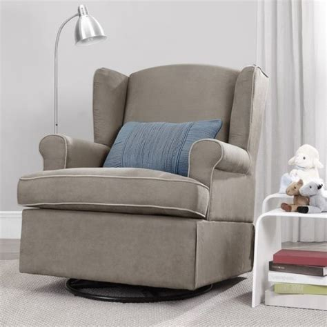 taupe swivel glider chair nursery furniture baby relax