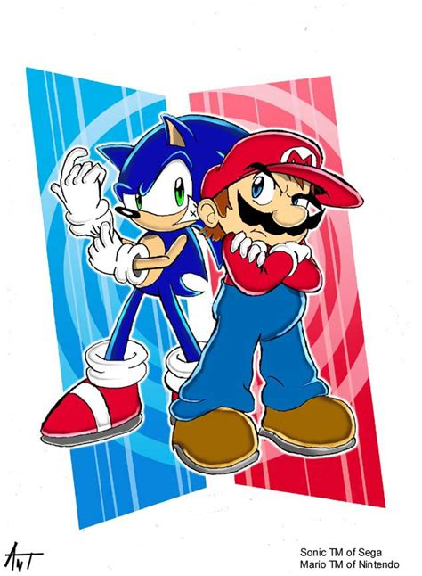 The Heroes Sonic And Mario By Antyep On Deviantart
