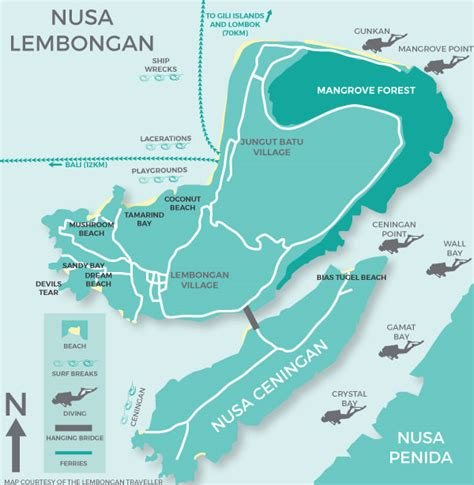 map  lembongan traveller