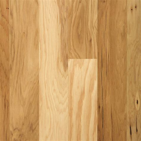 prefinished hardwood floors shop mohawk 5 36 in w prefinished hickory locking hardwood flooring sunrise at lowes com