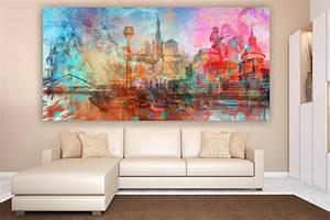 Moderne Kunst Leinwand : d sseldorf kunstdrucke als moderne wandbilder auf leinwand und acryl ~ Markanthonyermac.com Haus und Dekorationen