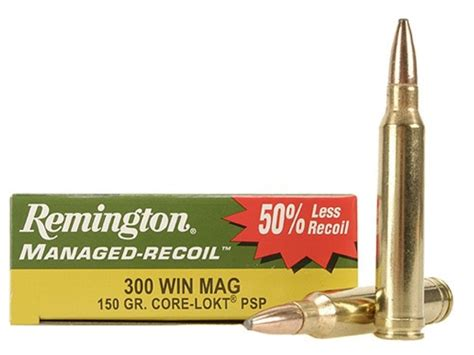 Remington Managed-recoil Ammo 300 Winchester Mag 150