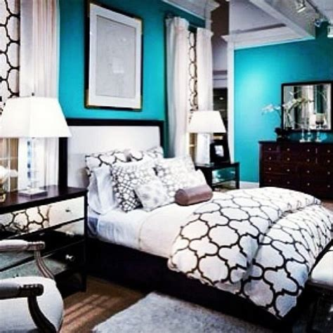 22 Best Black, White And Teal Bedroom( Images On