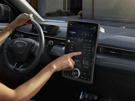 ford mustang mach  debuts   infotainment