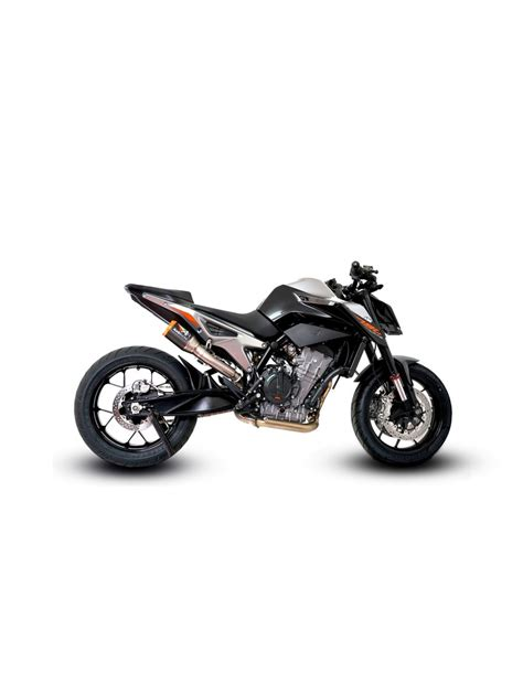 ktm duke 790 auspuff ktm duke 790 hi slung slip on de cat exhaust systems