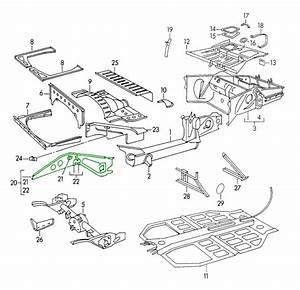 Porsche 356 Rear Frame Repair Panel 64450101500