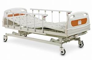 3 Crank Manual Hospital Bed With Mattress    Alk06