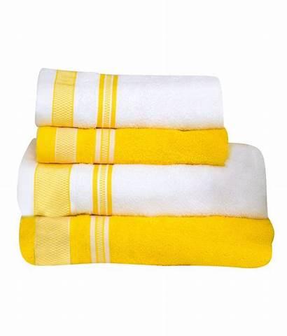Yellow Welspun Spaces Towels Cotton Bath Towel