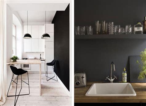 mur noir cuisine du noir sur les murs blueberry home