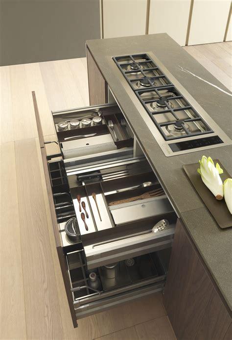 tecnorock stainless steel dark oak cutlery tray  drawer accessories  cutlery tray